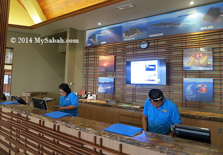 ticket counters