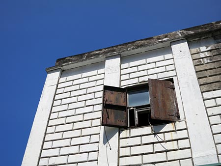 window of old welfare building