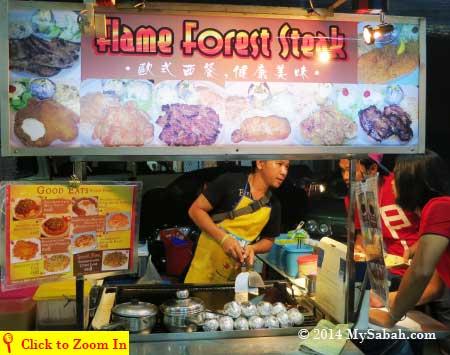 western food stall