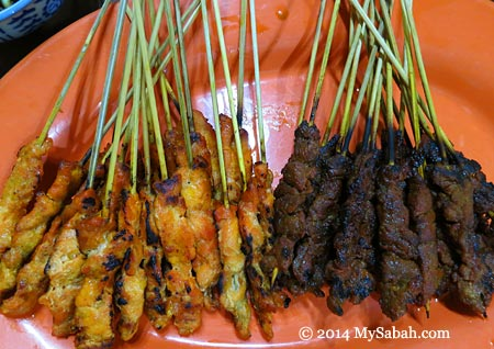 Satay (chicken and beef)