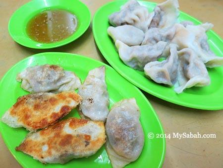 fried and steamed dumpling