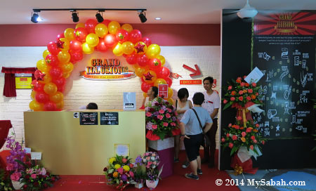 ticket counter and entrance of Grand Illusions