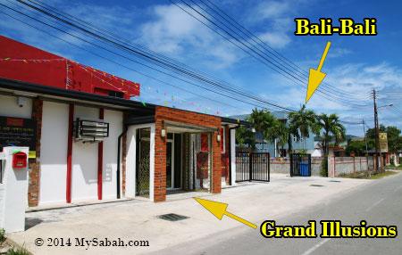 location of Grand Illusions and Bali-Bali