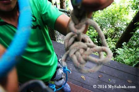 preparing for ziplining