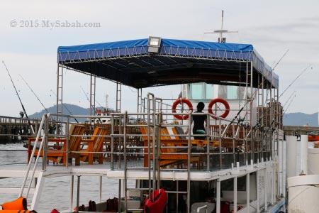 closer look at Hydian Way boat