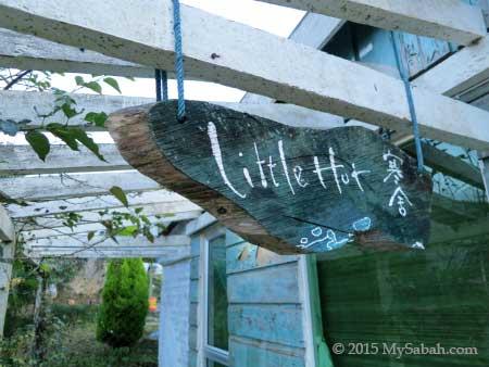 Little Hut signage
