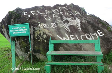 welcome sign of DESA