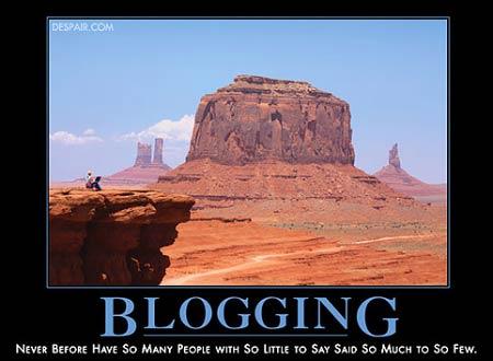 blogging poster