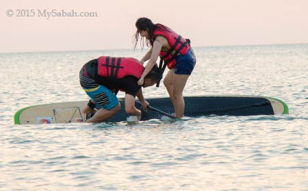 falling from Standup paddleboard