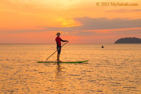 Sunset S.U.P in Tanjung Aru Beach