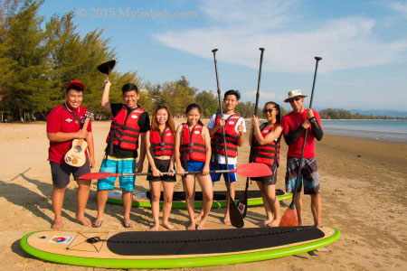 S.U.P group in Tanjung Aru Beach