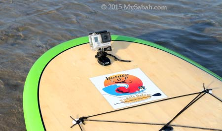 GoPro on stand up paddle board