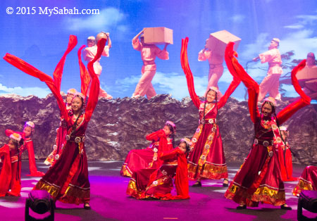 Chinese dance in Sabah Fest 2015