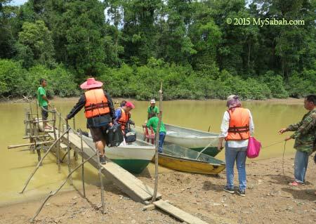 little jetty of Tanjung Bulat Oxbow Lake