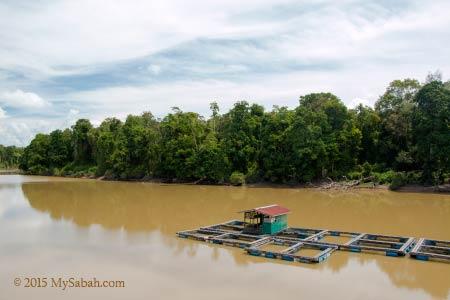fish farm and oxbow lake