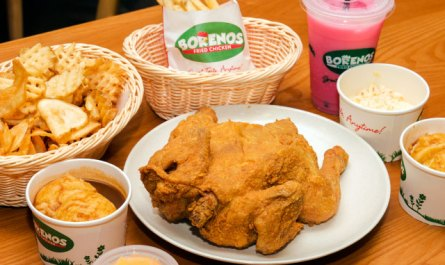 Borenos fried chicken meal