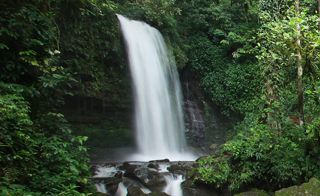 Mahua Waterfall, clean & cold water from Borneo mountain