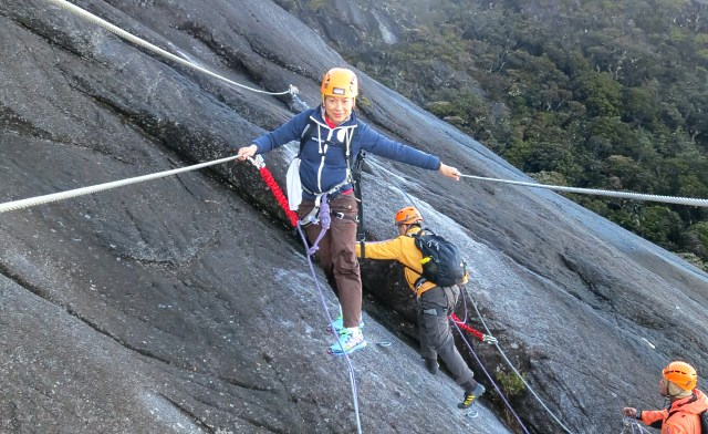 Sport Climbing on Mt. Kinabalu, the Highest Mountain of Malaysia