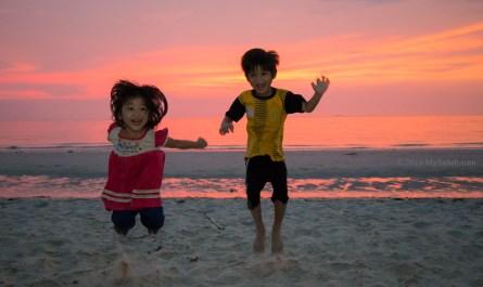 Playful children from local village
