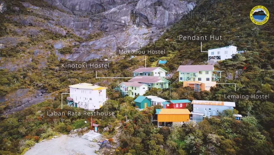All accommodations on Mount Kinabalu (Laban Rata / Panalaban)