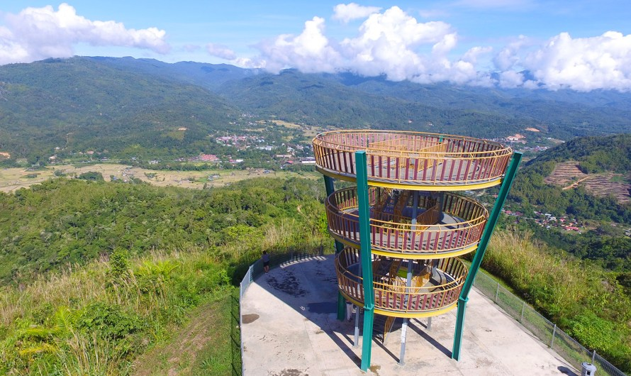 Tambunan Viewing Point (Sinurambi Tower) in Greenest Valley of Sabah