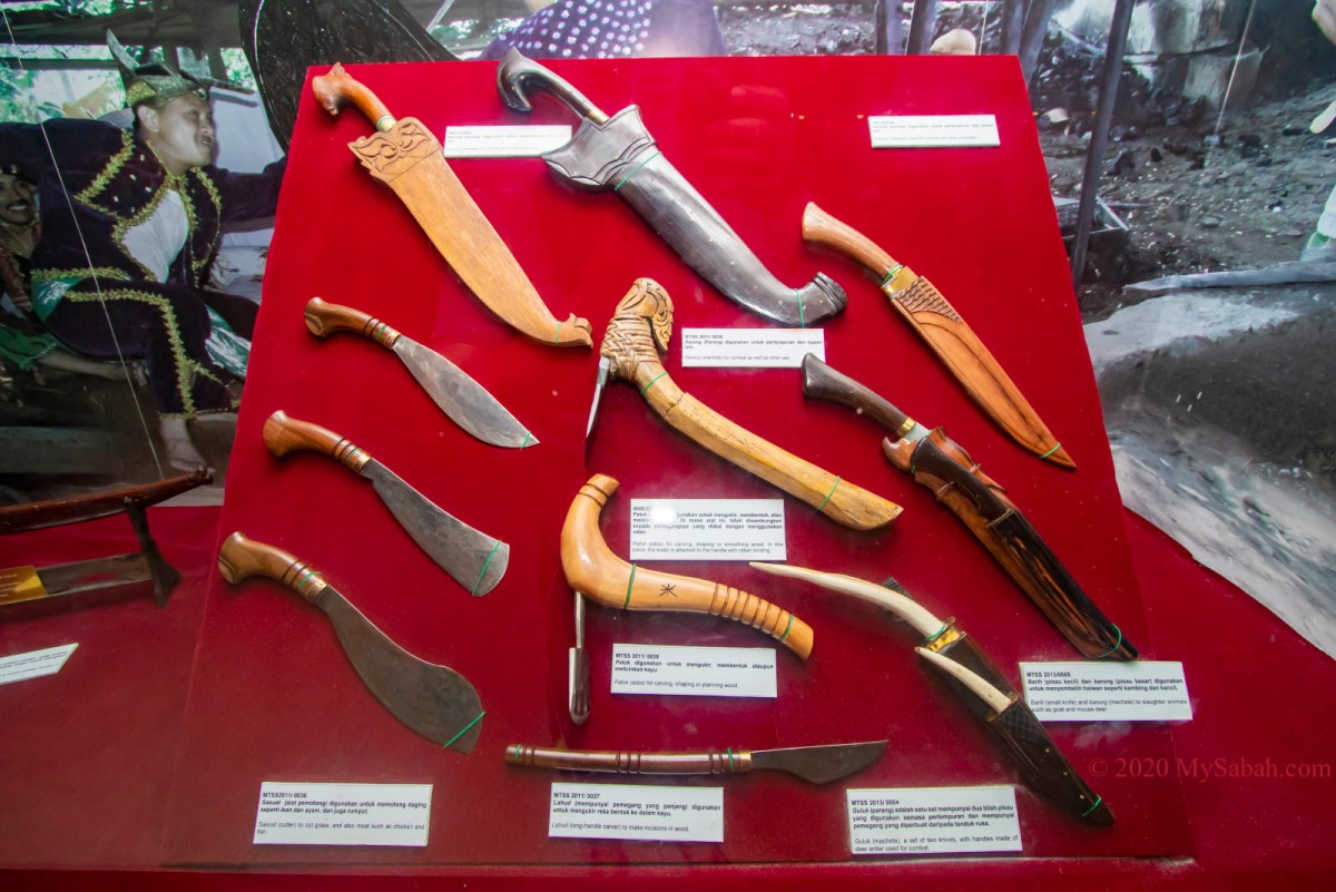 Traditional cutting and carving tools of Bajau people