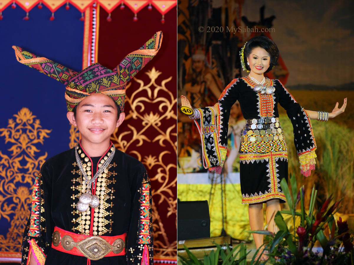 Dusun Tindal boy and lady