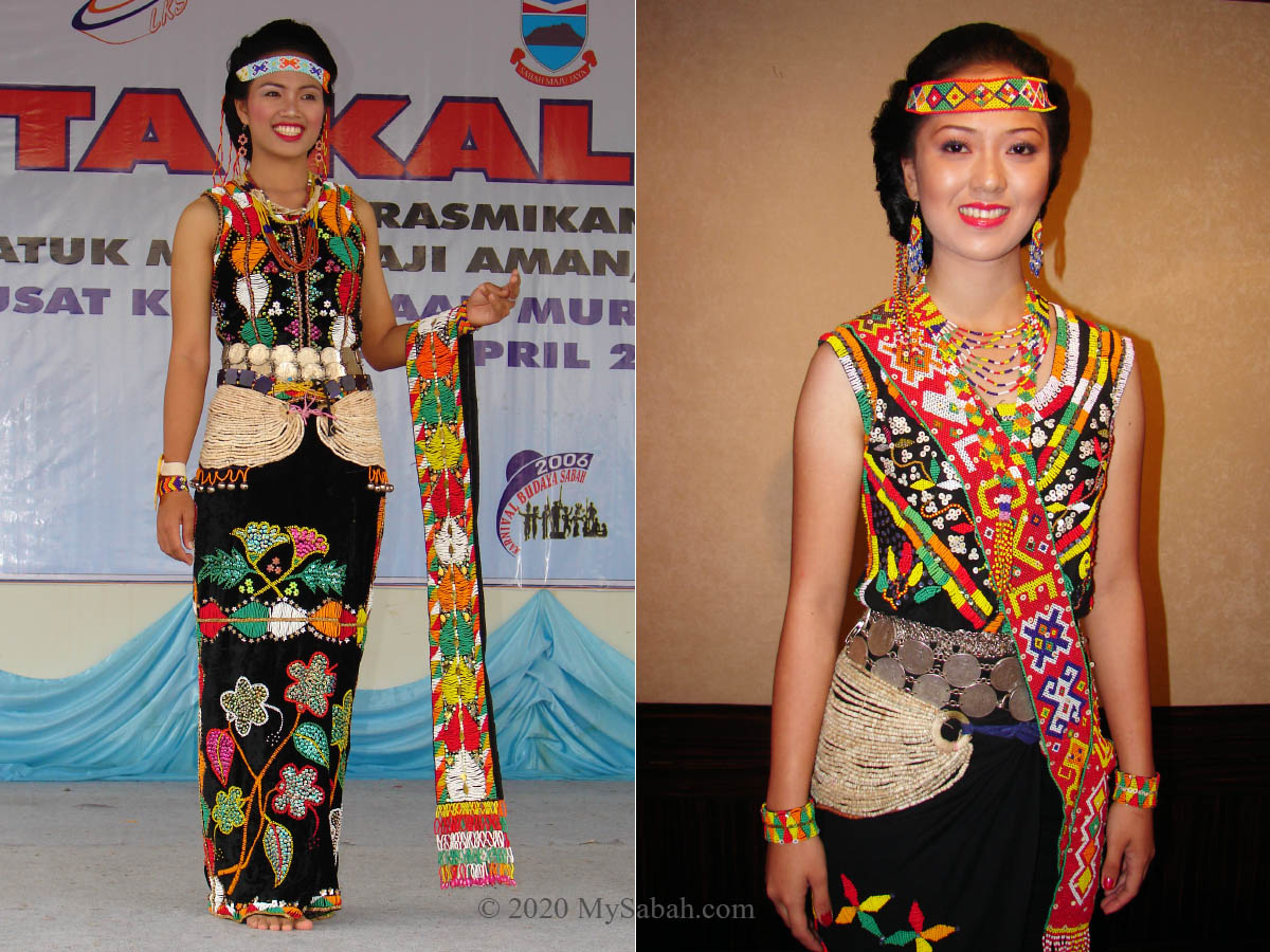 Girls in Murut traditional costume