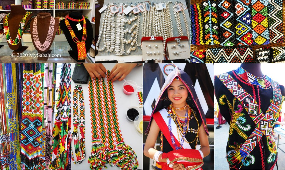 Traditional beadwork and Sabah pearls (at KadaiKu)