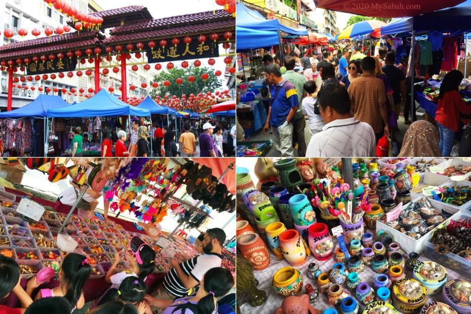 Gaya Street Sunday Market in Kota Kinabalu City