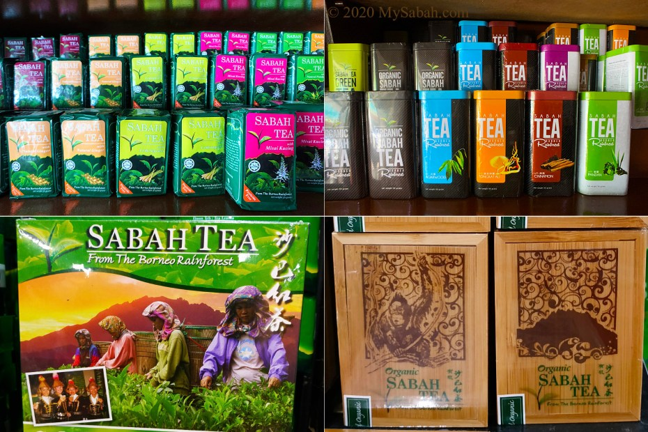 Sabah Tea in different packing and flavors