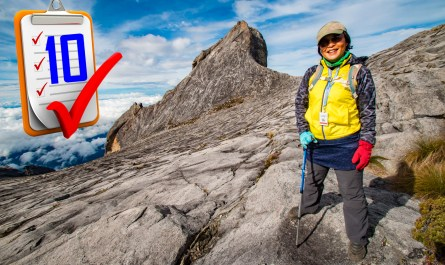 Checklist of climbing hills and mountains of Sabah