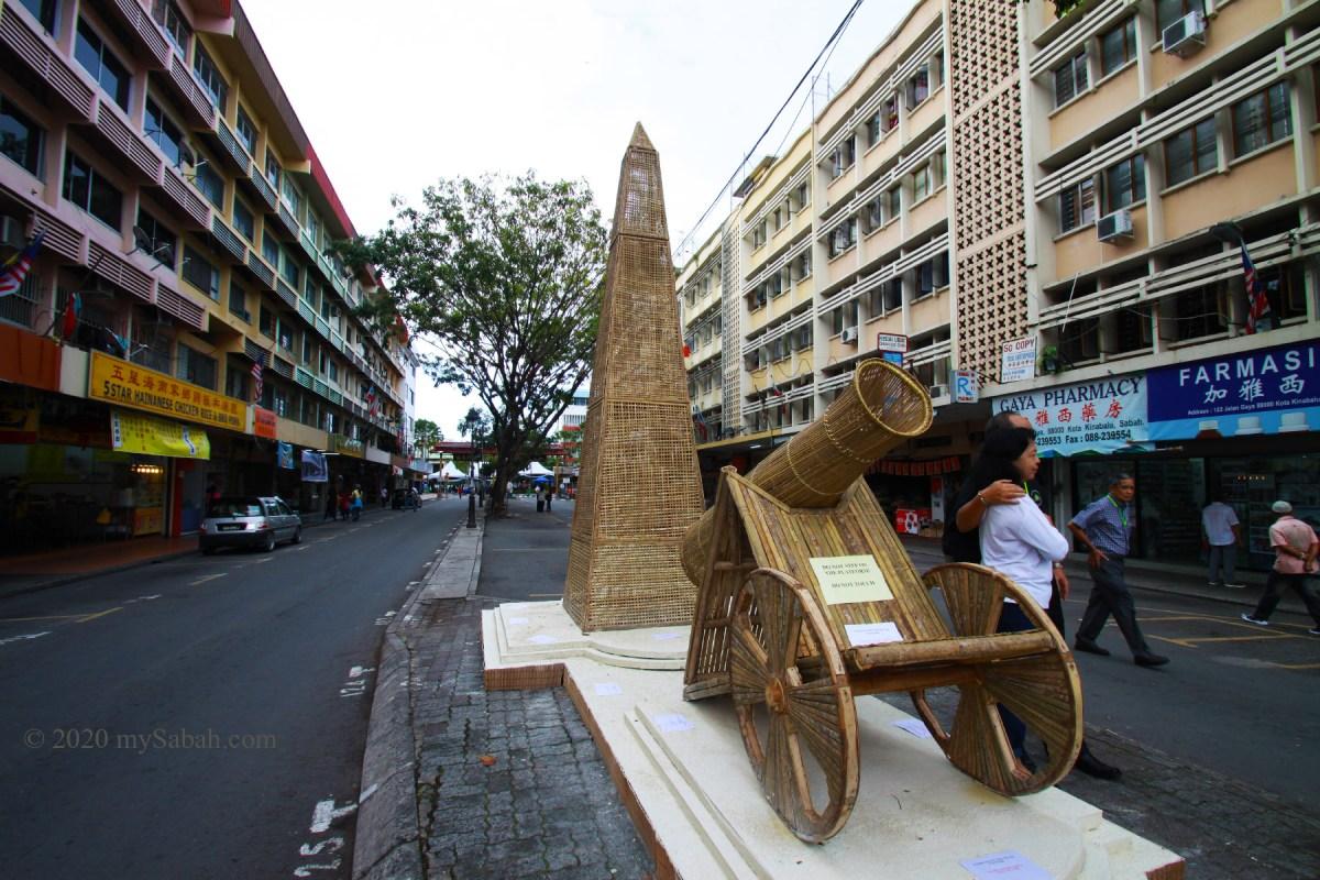 Replica of North Borneo War Monument in Gaya Street