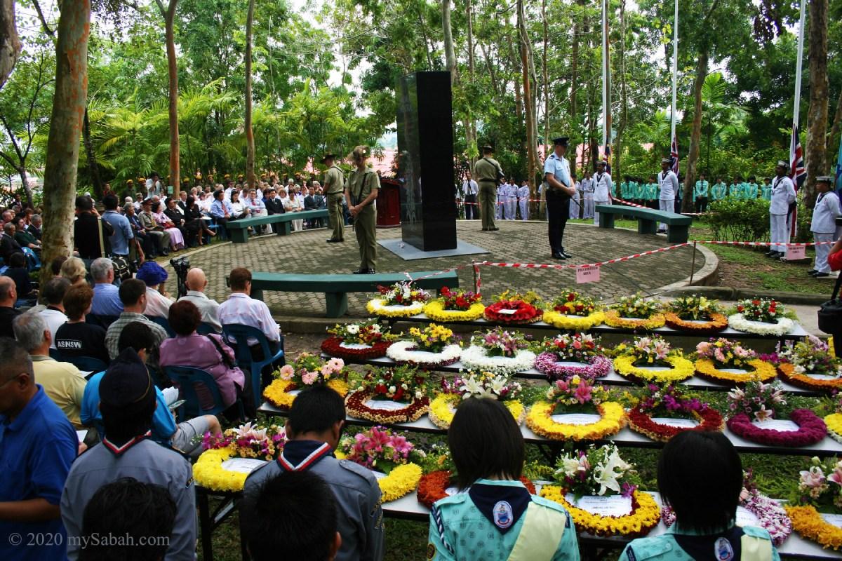 Memorial services in Sandakan Memorial Park
