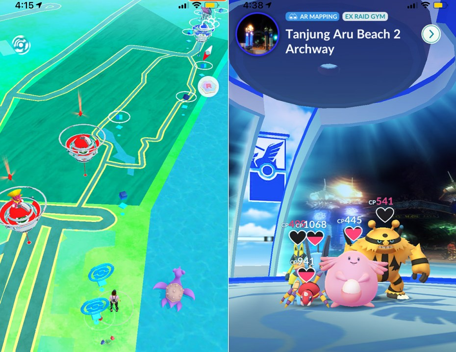 PokéStop and Gym of Tanjung Aru Beach