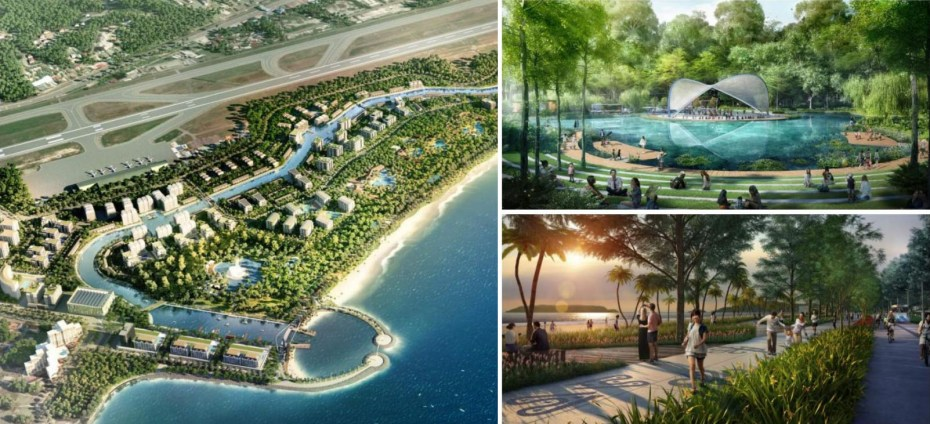 Layout and concept of Tanjung Aru Eco Development project