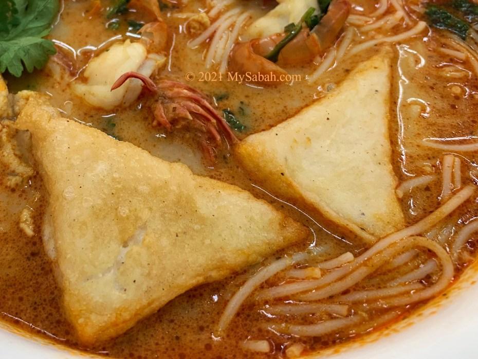 Close up of Sandakan Fish Cake