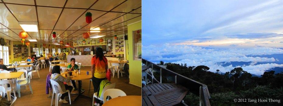 Restaurant in Laban Rata Resthouse