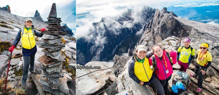 Climbers on Mount Kinabalu