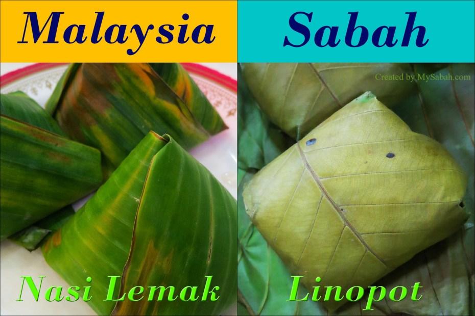 Nasi Lemak vs Linopot