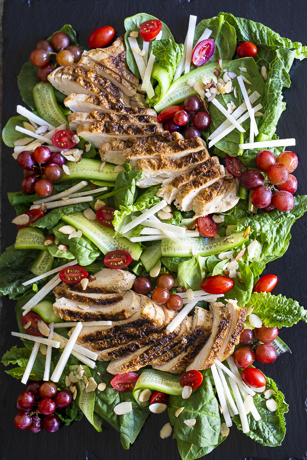SALAD W CHICKEN AND BALSAMIC VINAIGRETTE | paleo, whole 30