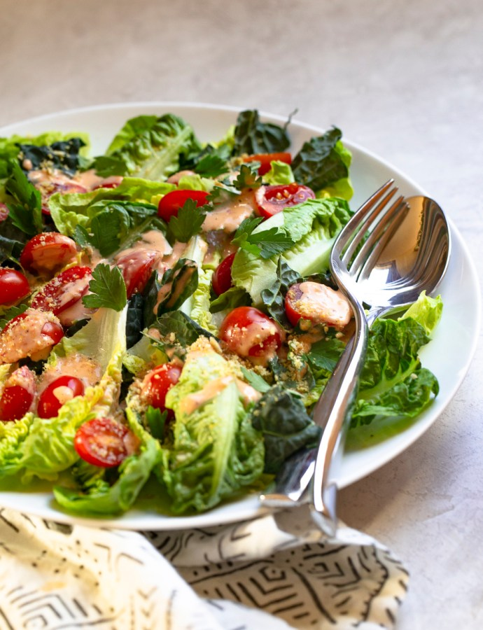 SPICY CAESAR SALAD | paleo, whole 30, dairy-free