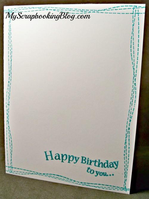 Simple Birthday card by Wendy Kessler
