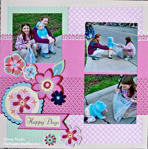 Happy Days Layout by Wendy Kessler