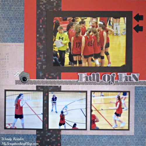 Full of Fun Layout by Wendy Kessler