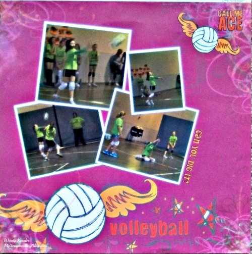 Call Me Ace Volleyball Layout by Wendy Kessler