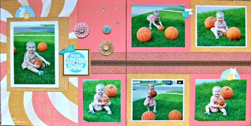 Fun Basketball Layout by Wendy Kessler