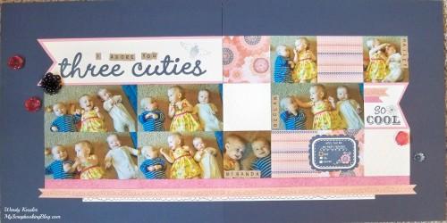 Three Cuties Layout by Wendy Kessler