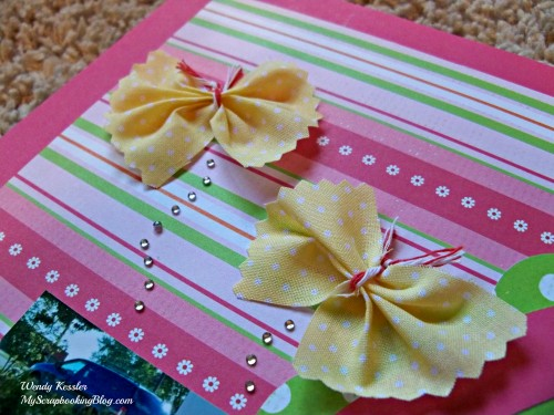 Fabric butterflies by Wendy Kessler