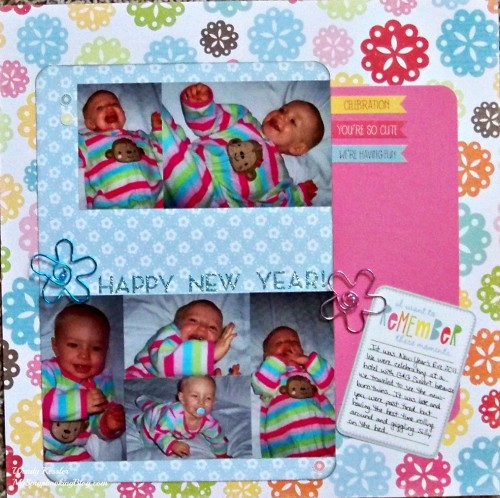 Happy New Year Layout by Wendy Kessler